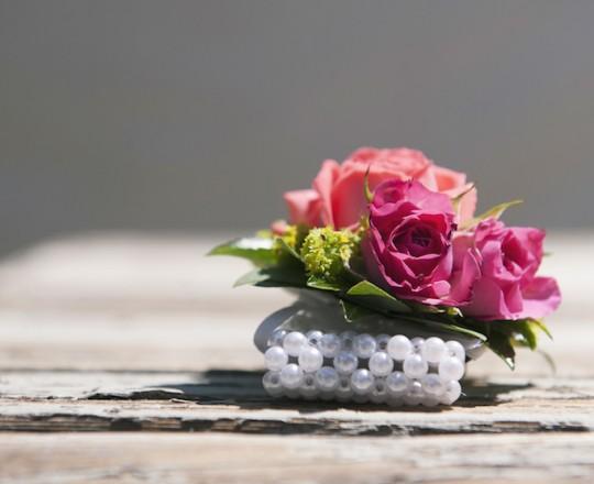 Wedding Flowers Berkshire Marquee Wedding Wrist Corsage