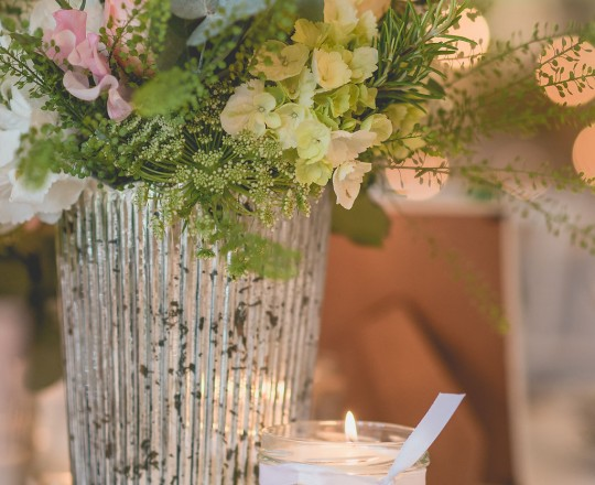 Beautiful, bespoke, elegant, vintage table arrangements - gorgeous wedding flowers by Joanna Carter Wedding Flowers Oxford Oxfordshire Buckinghamshire Berkshire London