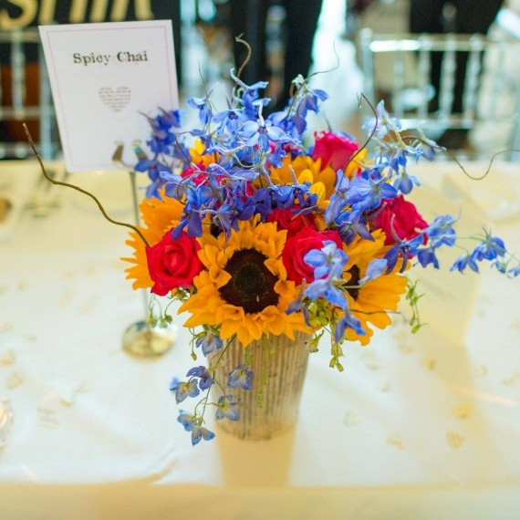 Joanna Carter wedding flowers Notley Abbey wedding table centre flowers