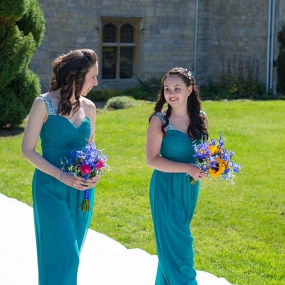 Joanna Carter wedding flowers Notley Abbey wedding bridesmaids bouquets