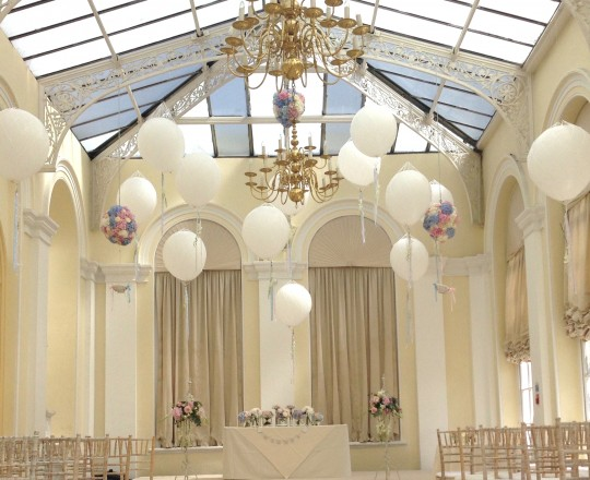 A Ballon filled Orangery, Blenheim Palace, Oxfordshire
