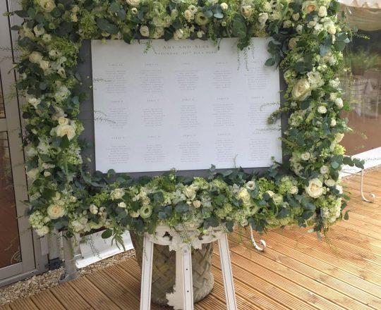 Gorgeous Flower Table Plan at Ardington House Oxfordshire Joanna Carter Wedding Flowers Oxfordshire Buckinghamshire Berkshire Surrey London