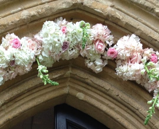 Wedding Flower Church Swag Aynhoe Park Joanna Carter Wedding Flowers Oxford Oxfordshire Berkshire Buckinghamshire London