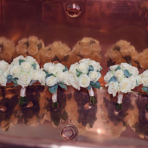 Beautiful Bridesmaids Bouquets Blenheim Palace Joanna Carter Wedding Flowers Oxford Oxfordshire Buckinghamshire Berkshire London