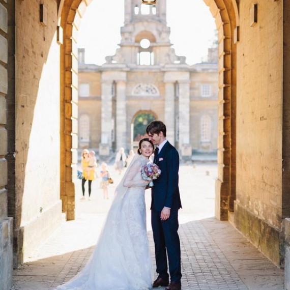 In the East Court Yard, Blenheim Palace - Beautiful bespoke arrangements with gorgeous fabulous wedding flowers by Joanna Carter Wedding Flowers Oxford Oxfordshire Buckinghamshire Berkshire London