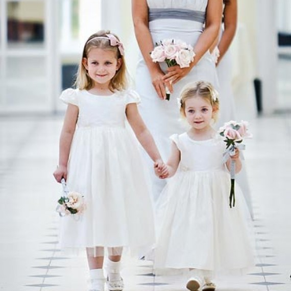 Junior Bridesmaids in the Orangery at Blenheim Palace