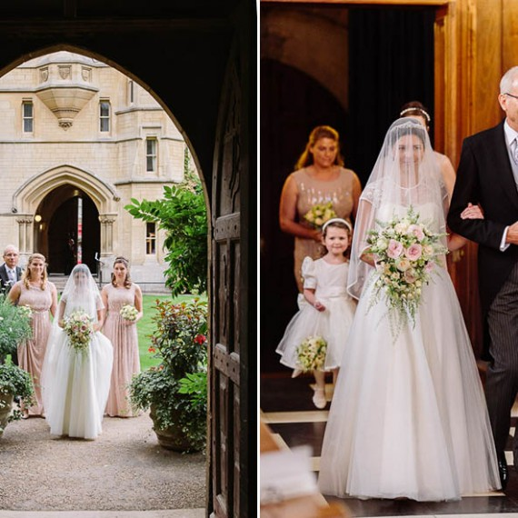 Elegant Bespoke Oxford College Wedding Flowers at Balliol College Oxford Joanna Carter Wedding Flower Oxford Oxfordshire Buckinghamshire Berkshire London
