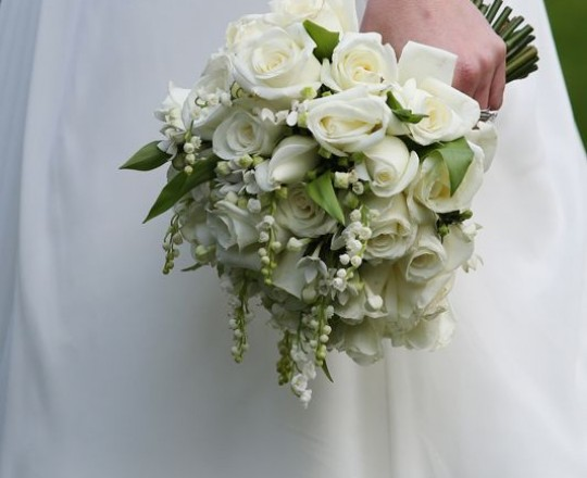 Rose Bouquet with Lily of the Valley, Joanna Carter Wedding Flowers Oxford, Oxfordshire, Buckinghamshire, Berkshire & London