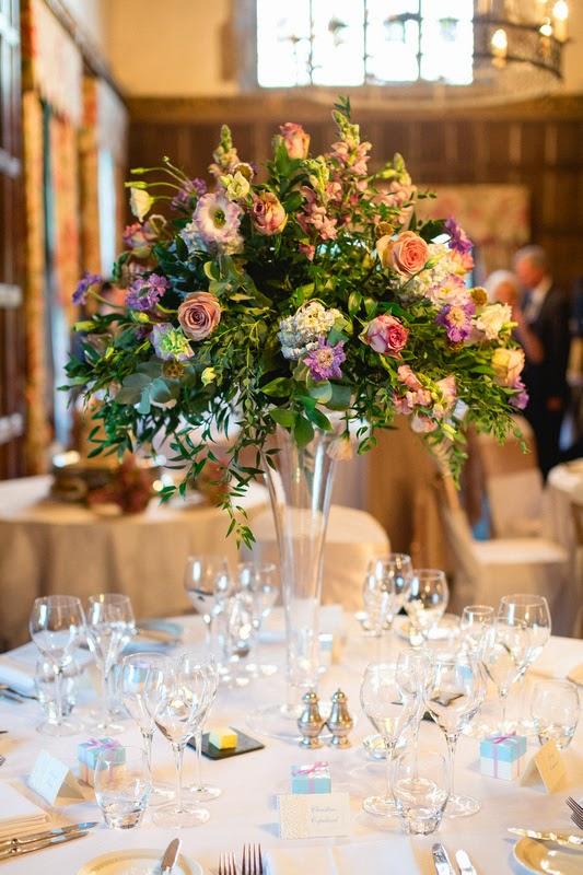 Reception Flowers, Joanna Carter Wedding Flowers, Oxford, Oxfordshire, Buckinghamshire, Berkshire & London