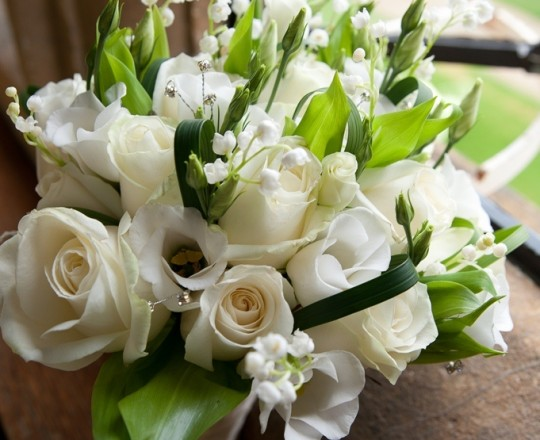 Rose Hand Tie Bouquet, Joanna Carter Wedding Flowers, Oxfordshire, Buckinghamshire, Berkshire & London