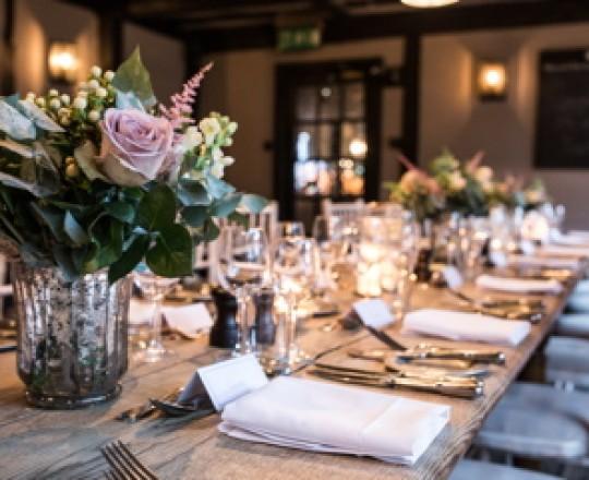 Table centres, Buckinghamshire wedding flowers, Joanna Carter flowers