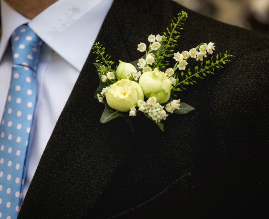 Grooms buttonhole, Joanna Carter Wedding Flowers, Oxfordshire, Buckinghamshire, Berkshire & London
