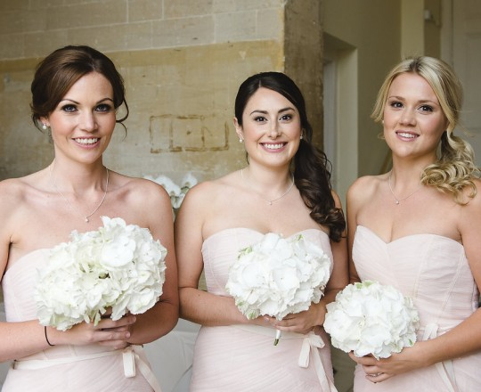 Blenheim Palace - Beautiful bespoke elegant bridesmaids bouquets - gorgeous fabulous wedding flowers by Joanna Carter Wedding Flowers, Oxford, Oxfordshire, Buckinghamshire, Berkshire and London.