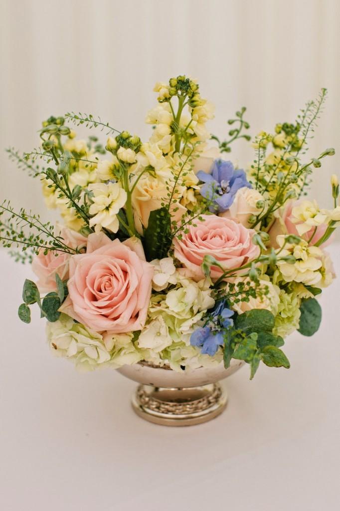 Elegant Rose Bowl Flowers, Joanna Carter Wedding Flowers, Oxford, Oxfordshire, Buckinghamshire, Berkshire and London