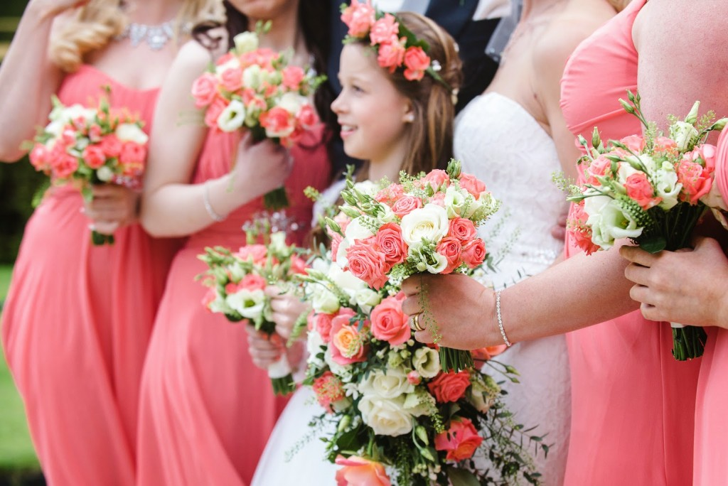 Bride and Bridesmaids Bouquets, Joanna Carter Wedding Flowers, Oxford, Oxfordshire, Buckinghamshire, Berkshire and London