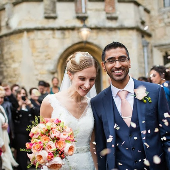 Beautiful Bespoke Elegant Brides Bouquet, with fabulous and gorgeous wedding flowers at Notley Abbey - Joanna Carter Wedding Flowers, Oxford, Oxfordshire, Buckinghamshire, Berkshire and London