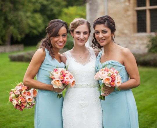 Fabulous Bride and Bridesmaids Wedding Flowers Notley Abbey Buckinghamshire