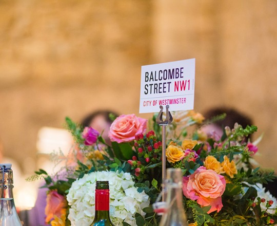 Table centres, Notley Abbey, Joanna Carter Flowers