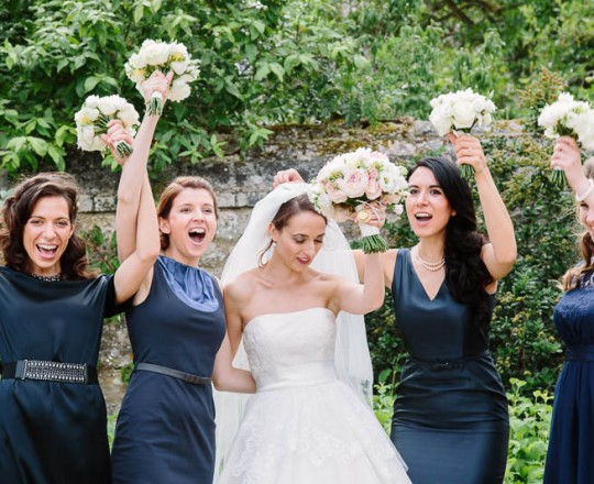 Beautiful Bespoke Elegant Bridesmaids Bouquet Oxford College with Gorgeous Fabulous Flowers - Luxury wedding flowers Oxford, Oxfordshire, Buckinghamshire Berkshire and London