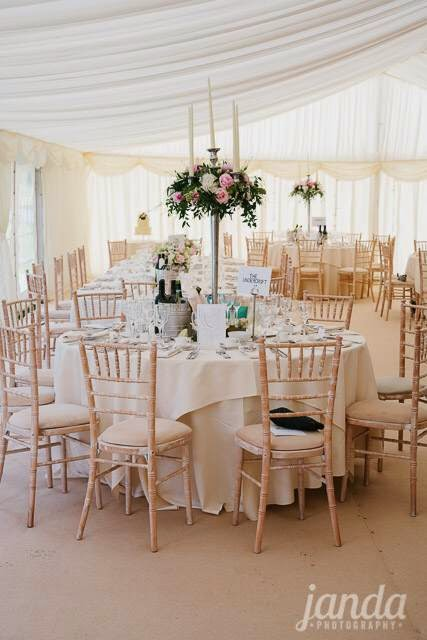 Reception Table Flowers, Joanna Carter Wedding Flowers, Oxford, Oxfordshire, Buckinghamshire, Berkshire & London