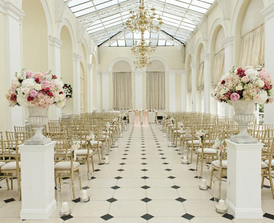 Blenheim Palace - Beautiful bespoke elegant ceremony venue arrangements - gorgeous fabulous wedding flowers by Joanna Carter Wedding Flowers, Oxford, Oxfordshire, Buckinghamshire, Berkshire and London.277