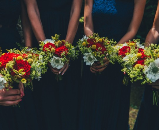 Bridesmaids Bouquets, Joanna Carter Wedding Flowers, Oxfordshire, Buckinghamshire, Berkshire & London