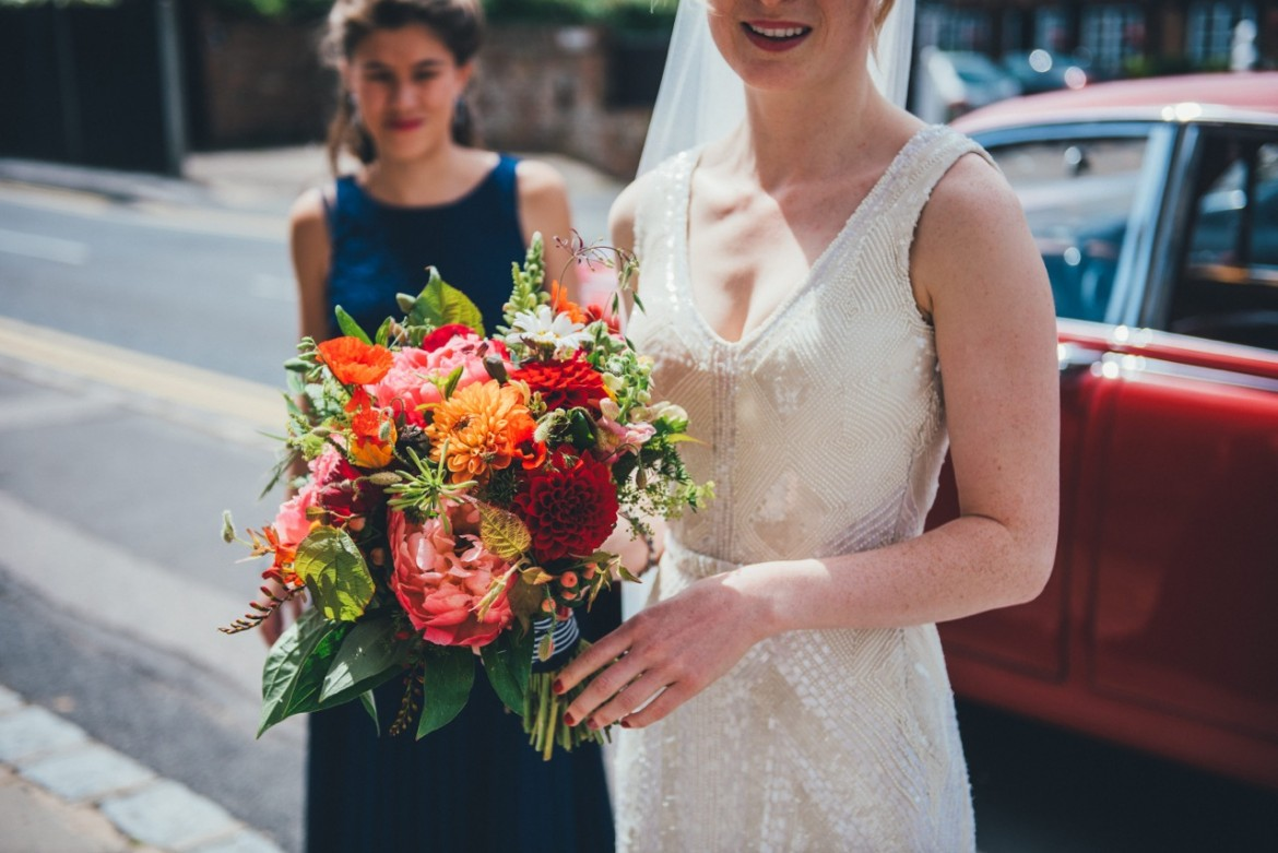 Bridal Bouquet, Joanna Carter Wedding Flowers, Oxfordshire, Buckinghamshire, Berkshire & London
