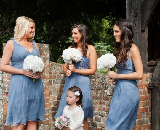 Joanna Carter wedding flowers, bridesmaids bouquets, The Crazy Bear, Oxfordshire