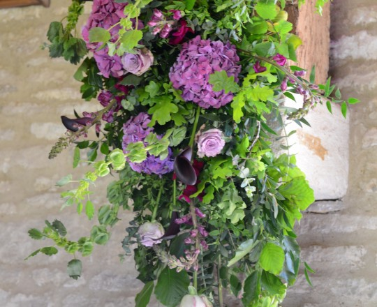 Fabulous Beautiful Bespoke swag flowers Tythe Barn Launton Joanna Carter Wedding Flowers Oxford Oxfordshire Berkshire Buckinghamshire Surrey London